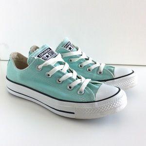 Converse Mint Sneakers Low Top Lace Up Shoes Sz 6